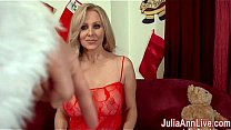 Busty Milf Julia Ann is ready to celebrate Christmas with her own special naughty Santa. Julia pulls out his special sack and sucks him off to facial present! See the full video at her official site!