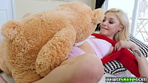 Sexy petite babe Sia Lust lets her boyfriend fuck her wet pussy in every angle of the living room