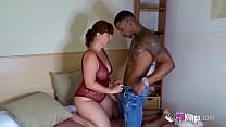 Interracial sex for horny Montse and her black friend