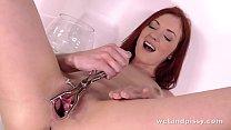 Sexy redhead Marketa is back for more sexy pissy fun
