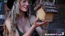 Small tits blonde MILF hot striptease and dancing before the sexy brunette Lilii dancing naked on the boat