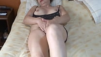 COMPILATION OF SEVERAL ORGASMS OF MY MATURE AND HAIRY WIFE, GROANS, ASKS TO BE FUCKED, EXHIBITIONIST