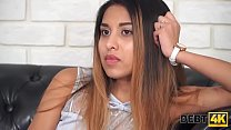 Debt4k. Arousing mulatto Roxy Lips blows collector's mind and makes him fuck her hard for loan