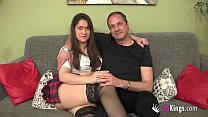 This horny couple met on the Internet but have finally come to fuck for real