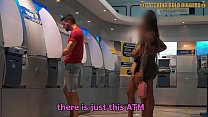 These Two Gold Digger Sisters Get Fucked From The ATM