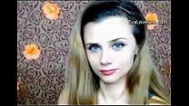 Beautiful girl dancing striptease on web camera