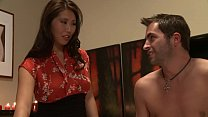 Big Tits Asian Masseuse makes American guy cums like a fountain after the Oily Sexy Japanese Massage