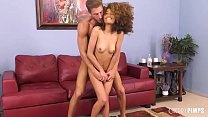 Cecilia may be petite but this babe is anything but small when it comes to having wild sex! After getting eaten out and deepthroating hard cock, the Ebony cutie was ready to have her wet pussy pounded!
