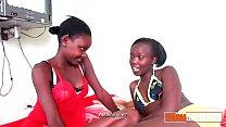 Young ebony teen girls oral
