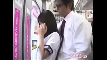 School girl want to fuck on train