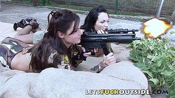 LFO - Lesbo Military Fuck Outdoor
