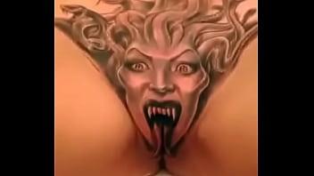 Fantastic medusa tattoo on pussy