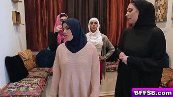 Hijab girls sucking and fucking like any average slut