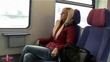 hot girl in train toilette
