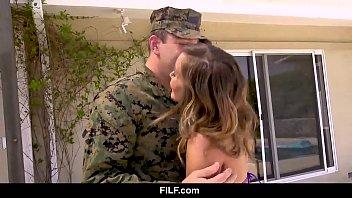 FILF –  Stepmom Welcomes Her National Hero Stepson Home