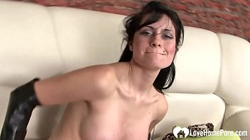 Seductive diva decided to use her whole dildo collection during her solo masturbation session.