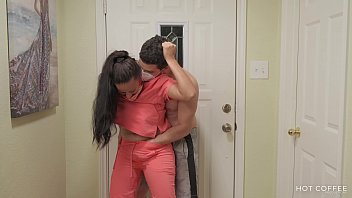 Latina nurse is received by a horny husband when she gets home from work