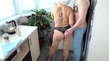 Son cum in mom's ass. Real homemade