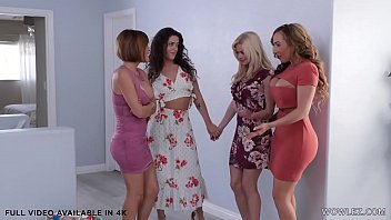 Busty Lesbo Wives Having Fun With Card Games