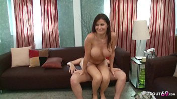 Big Boobs Mom Sloppy Rough Sex with Fat Dick Guy